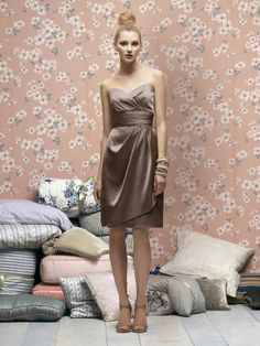 Elastic satin bridesmaid dress owns overstretch. Followed the sweetheart neckline and mock double layers with the pleat turn you into a pretty lovely beauty. Free made-to-measurement service for any size. Available colors seen as in Color Options.