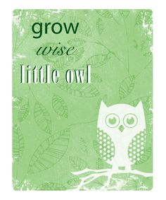 """Little Owl Print - """"Grow Wise Little Owl"""" Project Life, Baby Scrapbook Pages, Scrapbook Titles, Scrapbooking, Little Owl, Owl Patterns, Wise Owl, Owl Print, Activities For Kids"""