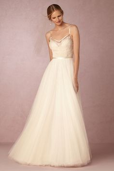 BHLDN Charlotte Gown in  Bride Wedding Dresses at BHLDN