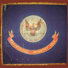 Wisconsin Infantry & Their Flag - Wisconsins Civil War Battle Flags Flags Of Our Fathers, Civil War Flags, Union Flags, Antique Pictures, Civil War Photos, Military Art, American Civil War, Soldiers, Wisconsin