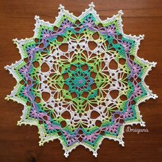 This doily is 18 rounds and measures about 10 Materials- 150 yards of size 10 thread mm hook Special . Crochet Home, Crochet Crafts, Yarn Crafts, Crochet Projects, Free Crochet Doily Patterns, Crochet Motif, Knit Crochet, Crochet Coaster, Free Pattern