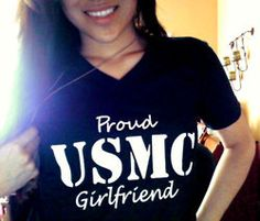 USAF!!!  Proud Military Girlfriend Shirt V NECK by SOTAPPAREL on Etsy, $17.00