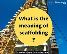 In the market, there are many scaffolding material suppliers and  provides various types of scaffolding. But we will talk about independent  scaffolding. The Independent scaffold consists of two rows of standard and  each parallel to row or line to the building. Scaffolding, Shutters, The Row, Meant To Be, Safety, Fair Grounds, Construction, Marketing, Building