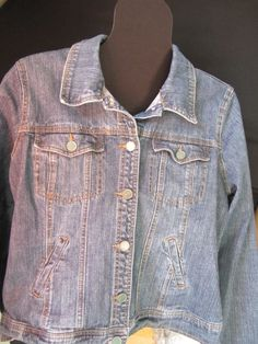 RXB Jean Jacket SZ XL,Fitted,Solid,Stretch,Cotton Blend #RXB #JeanJacket