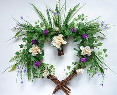 Azalea and Ivy Wreath Summer Front Door Wreath by Floralwoods, $28.00