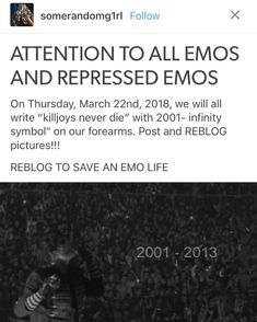 EVERYONE SHOW THIS TO ALL OF YOU KILLJOY FRIENDS