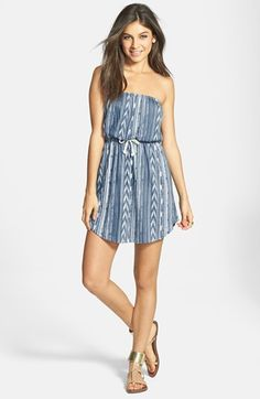 Billabong 'Crashing Waves' Ikat Strapless Dress (Juniors) available at #Nordstrom