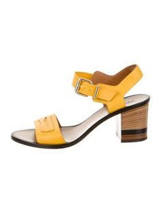 Fendi Lizard Ankle Strap Sandals