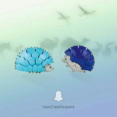 Cuteness in a ball - hedgehogs by Van Cleef and Arpels