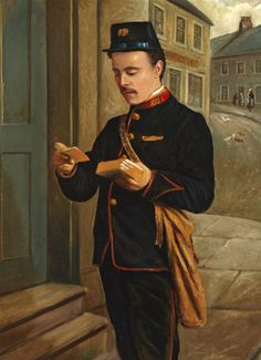 Portrait of a Postman (Alex Buchanan) by Thomas Patterson.