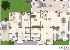 Single-family house with separate apartment floor plan - Architecture Designs - Detached house with separate apartment floor plan - House With Granny Flat, Diy Home Furniture, Apartment Floor Plans, Apartment Layout, Detached House, Luxury Homes, My House, Building A House, Architecture Design