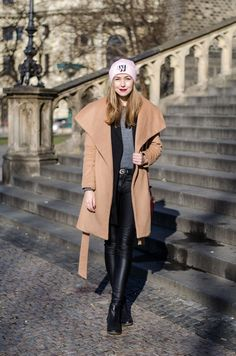 A Cup Of Style: Wafless beanie What I Wore, What To Wear, Spring And Fall, Fall Outfits, Duster Coat, Bring It On, Beanie, Style Inspiration, Jackets