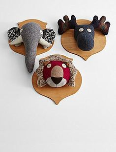 stuffed animal wall mounts