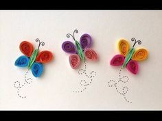 Art & Craft How to make Beautiful Quilled Butterflies,Insects, Butterfli...