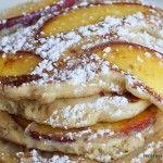 La receta de tortitas de melocotón por Recetas Americanas.