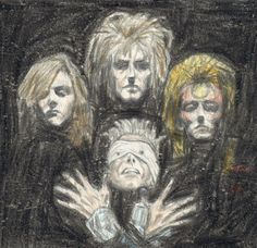 DeviantArt is the world's largest online social community for artists and art enthusiasts, allowing people to connect through the creation and sharing of art. David Bowie Labyrinth, David Bowie Art, The Bowie, Original Memes, The Thin White Duke, Goblin King, Music Mood, The Dark Crystal, 2d Art