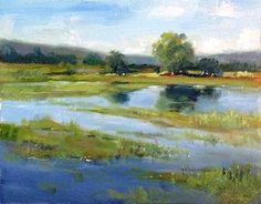 "Tualatin Marsh by Brenda Boylan Oil ~ 8 x 10"""