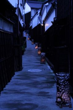 Back alley at summer night in Toyota, Aichi, Japan