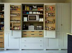 Choosing a New Kitchen Sink Kitchen Larder, Shaker Kitchen, New Kitchen Cabinets, Kitchen Units, Kitchen Sink, Concrete Worktop Kitchen, Kitchen Interior, Kitchen Design, Exposed Brick Kitchen