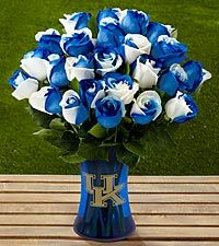 The FTD® University of Kentucky® Wildcats® Rose Bouquet - VASE INCLUDED