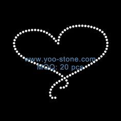 Wholesale Newest Design Heart Motif Rhinestone