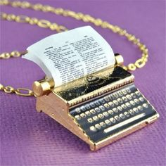 Typewriters as jewelry