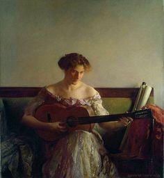 The Guitar Player, Joseph DeCamp 1908