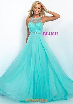 Blush Long A Line Dress 11053
