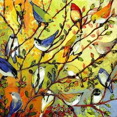 View 16 Birds Collage by Jennifer Lommers and purchase the artwork as fine art print, canvas and framed wall art Birds Painting, Canvas Wall Art, Jennifer Lommers, Bird Art Print, Nature Art, Painting, Painting Prints, Art, Bird Canvas