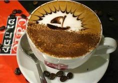 Sailboat Art in the Latte. Latte Art is one that certainly diminishes and disappears quickly! Arte Del Cappuccino, Cappuccino Art, Coffee Latte Art, Coffee Love, Coffee Break, Best Coffee, Morning Coffee, Coffee Cups, Coffee Coffee