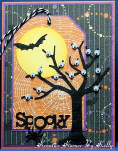 DIY: Awesome Halloween Tags Design Pictures - Stampin' up - halloween cards Halloween Tags, Happy Halloween, Halloween Scrapbook, Holidays Halloween, Halloween Crafts, Handmade Halloween Cards, Cricut Halloween Cards, Halloween Pictures, Halloween Prop
