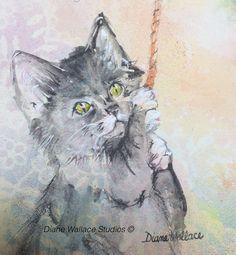 Kitten, watercolor, cat