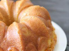 Yum... Id Pinch That! | Peach Vanilla Bean Bundt Cake with Peach Soaking Syrup Makes 10-inch bundt cake, serving 12 to 14