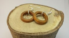 Hawthorne tiny hoop earrings, handmade, sealed with beeswax to enhance their natural beauty and protect the wood.  www.mackeyartistry.etsy.com  #MackeyArtistry