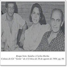 "Braga Neto, Sandra e Carlos Rocha. Coluna Gil ""Gente"" do A Crítica de 26 de agosto de 1984"