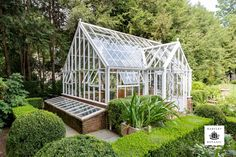 A beautiful, bespoke Hartley Botanic glasshouse, situated in a customer's garden in Lexington, Kentucky (USA). Greenhouse Attached To House, Buy Greenhouse, Harbor Freight Greenhouse, Greenhouses For Sale, Business Notes, Free Printable Art, Redford House, Glass House, Terrariums