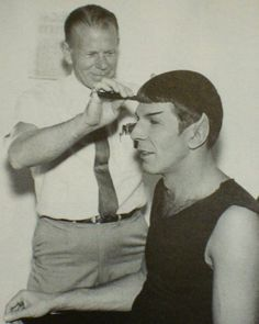 I've been on about Spock's Vidal Sassoon-esce five-point hair cut lately.