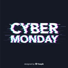 Cyber Monday sale background with glitch effect - This CYBER MONDAY shop our collection of Close-Out deals at Sanchi And Filia P Designs at the lowes - Graphic Design Fonts, Web Design, Logo Design, Cyber Monday Ads, Glitch Effect, Black Friday Ads, Sale Banner, Sale Poster, Illustration