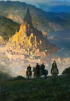 Fantasy Art Watch - King of Ashes by Marc Simonetti - Fantasy Kunst, Fantasy City, Fantasy Castle, Fantasy Places, High Fantasy, Medieval Fantasy, Fantasy World, Medieval Town, Fantasy Art Landscapes