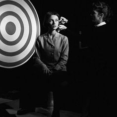Audrey Hepburn photographed by Sid Avery during a television appearance in Los Angeles, 1957.