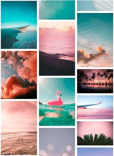 Learn how to make a DIY wall collage with aesthetic photos and quotes for VSCO inspired room decor. Perfect for bedrooms and college dorms. Summer Wallpaper, Diy Wallpaper, Bedroom Wall Collage, Photo Wall Collage, Aesthetic Design, Aesthetic Photo, Blow Up Pool, Wall Mounted Tv, Landscape Art