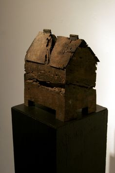 Reliquary by Ross Young.  Brass lined box made from found oak