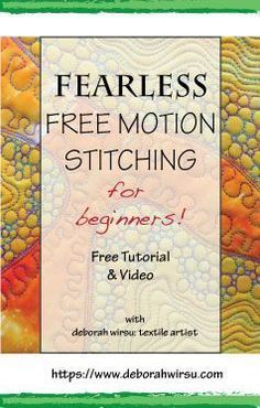 Fearless Free Motion Stitching for Beginners offers newcomers to this technique a 'Back to Basics' approach that will have you feeling comfortable at your sewing machine when the feed dogs are down! This exercise may look challenging, but with a little pr Quilting For Beginners, Quilting Tips, Quilting Tutorials, Sewing For Beginners, Longarm Quilting, Sewing Basics, Sewing Hacks, Sewing Projects, Sewing Tips