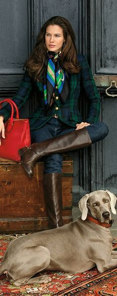 oh, and Classic Ralph Lauren Black Watch Tartan Jacket Mode Outfits, Winter Outfits, Preppy Outfits, Mode Bcbg, Moda Formal, Business Mode, Business Attire, Foto Fashion, Ralph Lauren Style