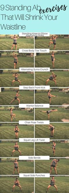 9 STANDING AB EXERCISES THAT WILL SHRINK YOUR WAIST LINE!