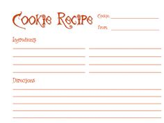 Classy Event Organizer Cookie Exchange Recipe Cards