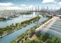 Like many second-tier Chinese cities, historic Changsha is growing at a staggering rate – in 10 years – leading to gridlocked roads, polluted air, surplus housing and overstretched services. Futuristic City, Futuristic Design, Futuristic Architecture, Minimalist Architecture, Chinese Architecture, Future Buildings, Modern Buildings, Future City, Art Science Fiction
