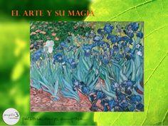 """VINCENT VAN GOGH: """"Lirios"""", 1889 - Jean Paul Getty Museum, Malibú. Van Goh pintó esta famosa tela mientras estaba internado en el sanatorio de Saint-Rémy, donde se le permitía pintar """"au plen air"""". Todo el lienzo es un canto a la belleza de la naturaleza, y llama la atención como el suelo rojo parece acompañar a las flores rojas de la parte posterior, a la vez que el lirio blanco encuentra un eco en una flor azul pálida de la derecha."""