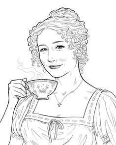 1000 images about colouring sheets on pinterest for Jane austen coloring pages