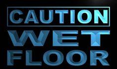 Caution Wet Floor Neon Light Sign